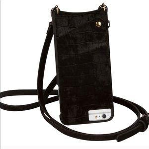 Bandolier Emma black velvet iPhone 8/7/6 plus case